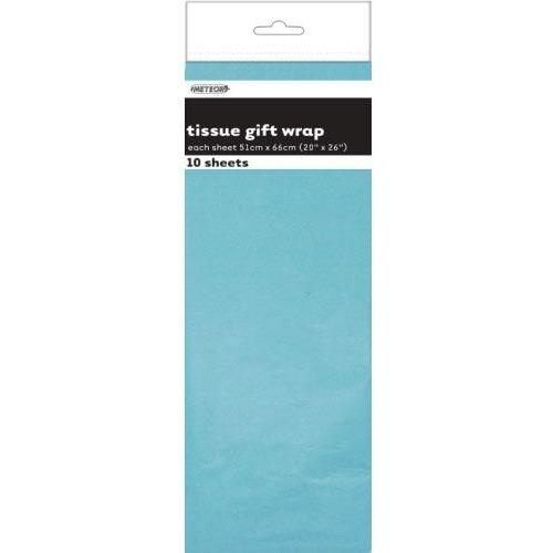 Tissue Sheets Pale Blue - Each sheet 51cm x 66cm #106283 - Pack of 10