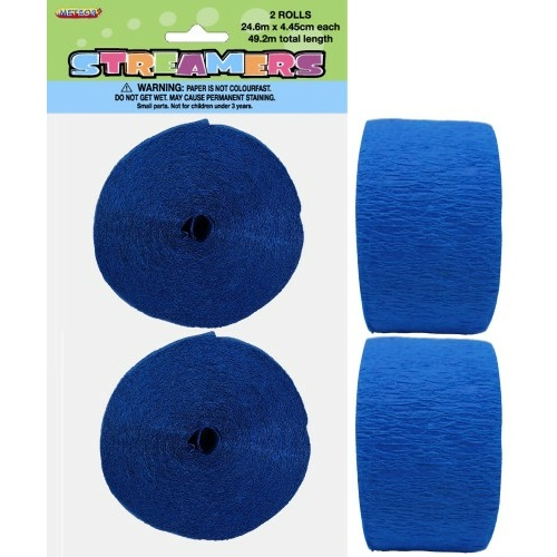 Paper Crepe Streamer Royal Blue 24m (81ft) #1063072 - 2Pk (Pkgd.)