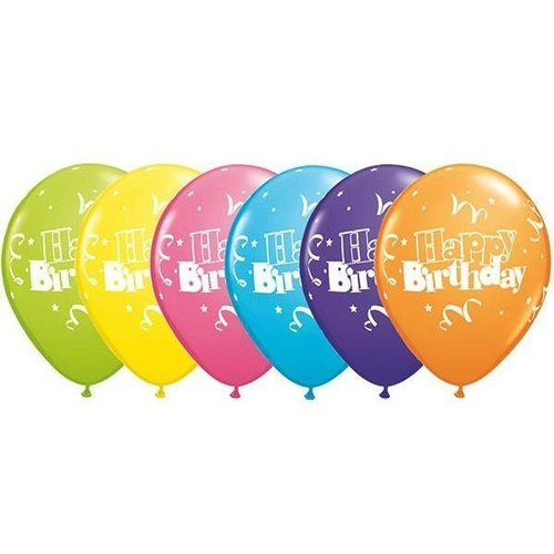 28cm Round Special Assorted Birthday Streamers & Stars #11952 - Pack of 50