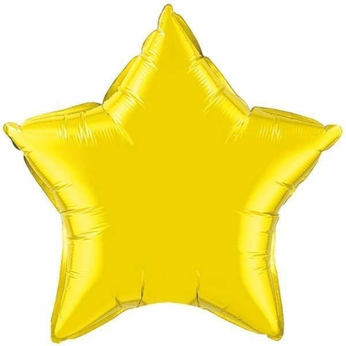 50cm Star Citrine Yellow Plain Foil #12631 - Each (Unpkgd.)