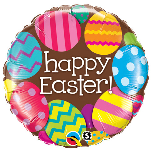45cm Round Foil Easter Eggs & Chocolate #13243 - Each (Pkgd.)