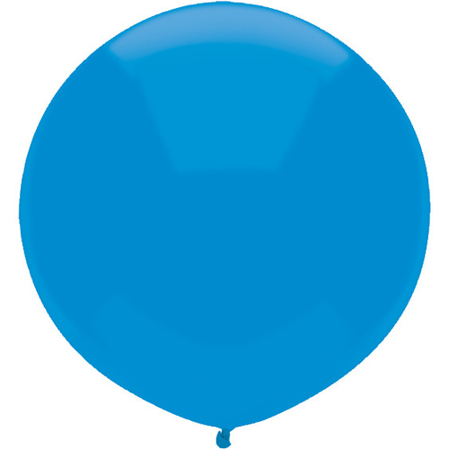 43cm Round Bright Blue Outdoor Balloon#16593 - Pack of 50