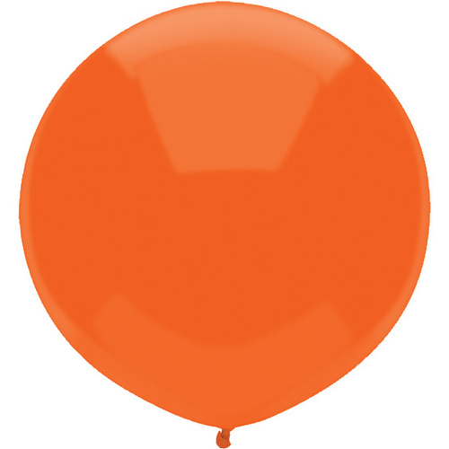 43cm Round Bright Orange Outdoor Balloon#16594 - Pack of 50