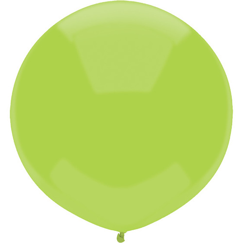 43cm Round Kiwi Lime Outdoor Balloon#16609 - Pack of 50