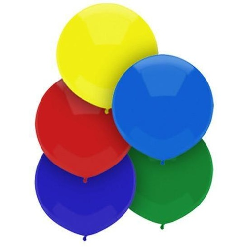 43cm Round Royal Rich Assorted Outdoor Balloon#16611 - Pack of 50