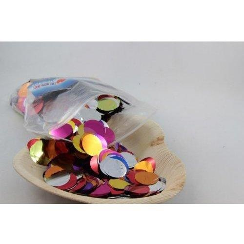 Confetti 2.3cm Metallic Assorted 250 grams #204621 - Resealable Bag