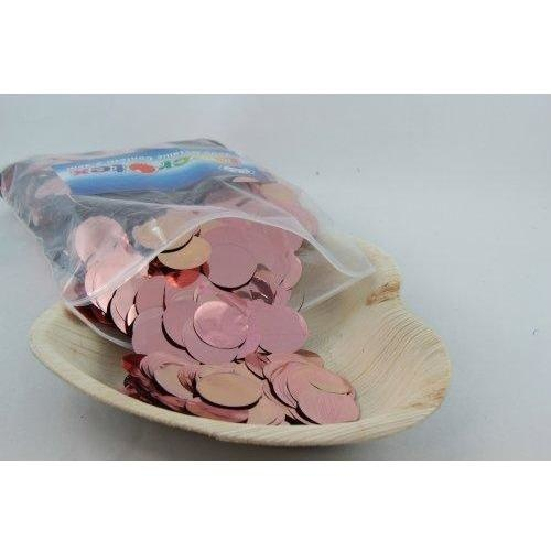 Confetti 2.3cm Metallic Rose Gold 250 grams #204624 - Resealable Bag