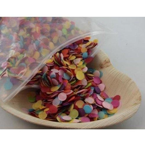 Confetti 1cm Tissue Assorted 250 grams #204651 - Resealable Bag