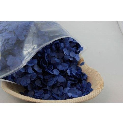 Confetti 1cm Tissue Blue 250 grams #204653 - Resealable Bag