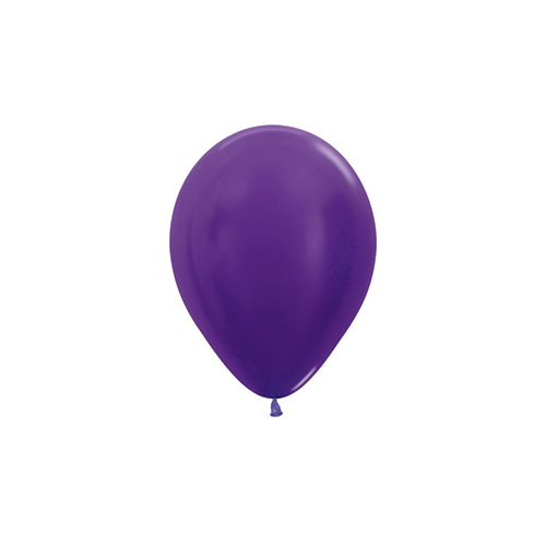 12cm Metallic Violet (551) Sempertex Latex Balloons #206227 - Pack of 100