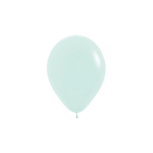 12cm Pastel Matte Green Sempertex Latex Balloons #206342 - Pack of 100
