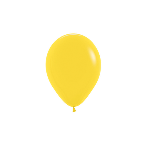 12cm Fashion Yellow (020) Sempertex Latex Balloons #206359 - Pack of 100