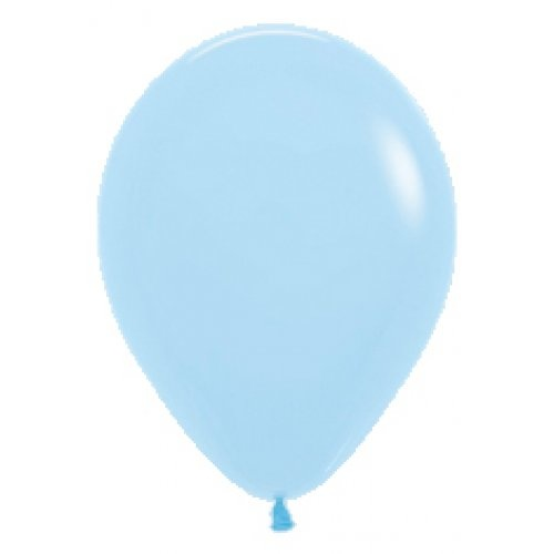 30cm Round Matte Pastel Blue Decrotex Plain Latex - Pack of 100 TEMPORARILY UNAVAILABLE