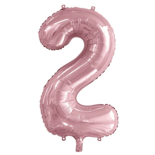 86cm Number 2 Light Pink Foil Balloon #213762 - Each (Pkgd.)