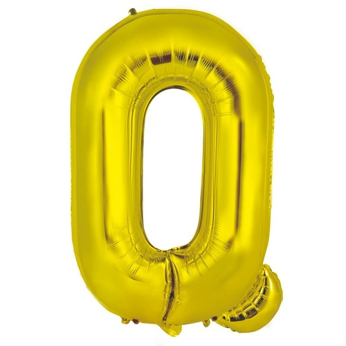 86cm Letter Q Gold Foil Balloon #213956 - Each (Pkgd.)