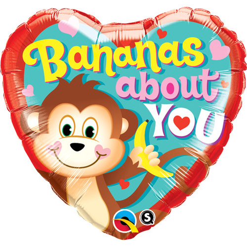 45cm Heart Foil Bananas About You #21841 - Each (Pkgd.)