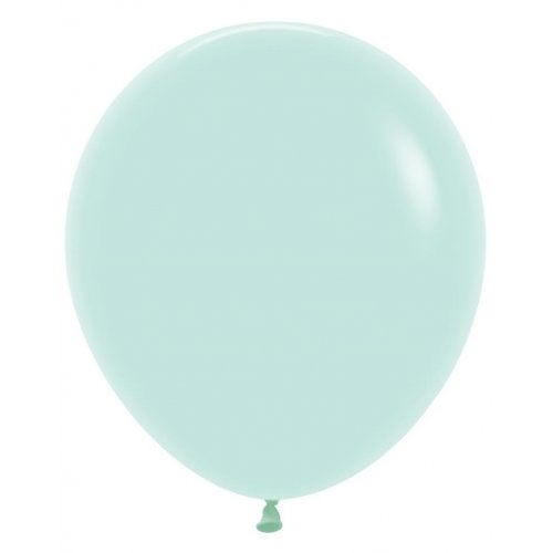 46cm Round Matte Pastel Green Decrotex Plain Latex #222632 - Pack of 25