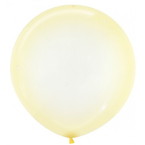 60cm Crystal Pastel Yellow (321) Sempertex Latex Balloons #222673 - Pack of 3