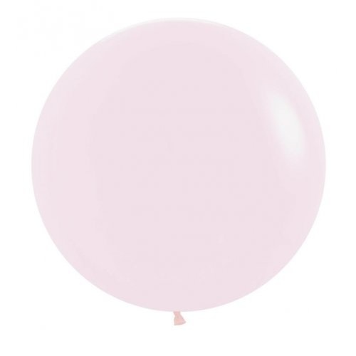 60cm Round Matte Pastel Pink Decrotex Plain Latex #222681 - Pack of 3