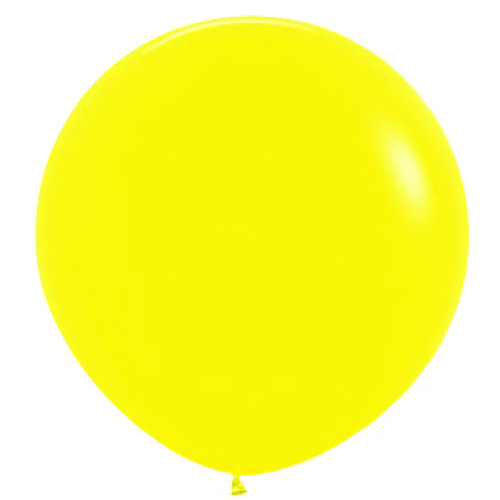 90cm Fashion Yellow (020) Sempertex Latex Balloons #222702 - Pack of 3