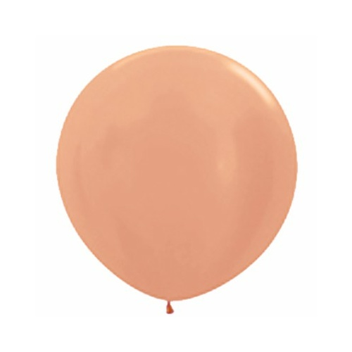 90cm Metallic Rose Gold (568) Sempertex Latex Balloons #222723 - Pack of 3
