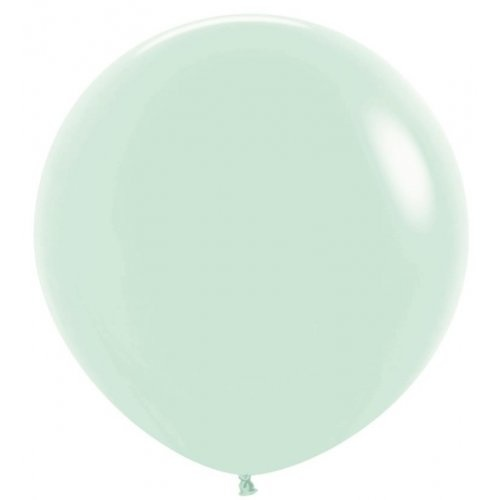 90cm Round Matte Pastel Green Decrotex Plain Latex - Pack of 3