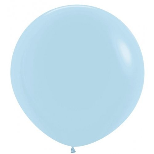 90cm Round Matte Pastel Blue Decrotex Plain Latex - Pack of 3