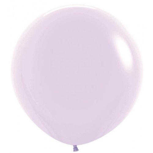 90cm Round Matte Pastel Lilac Decrotex Plain Latex - Pack of 3