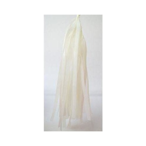 Tassels Tissue 30cm Pre-Cut Ivory #22TTIVR - Pack of 16