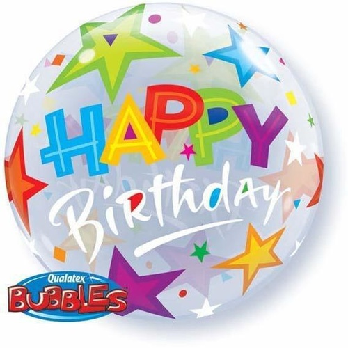 56cm Single Bubble Birthday Brilliant Stars #23595 - Each TEMPORARILY UNAVAILABLE