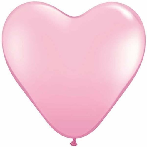 38cm Heart Pink Qualatex Plain Latex #24693 - Pack of 50 SPECIAL ORDER ITEM