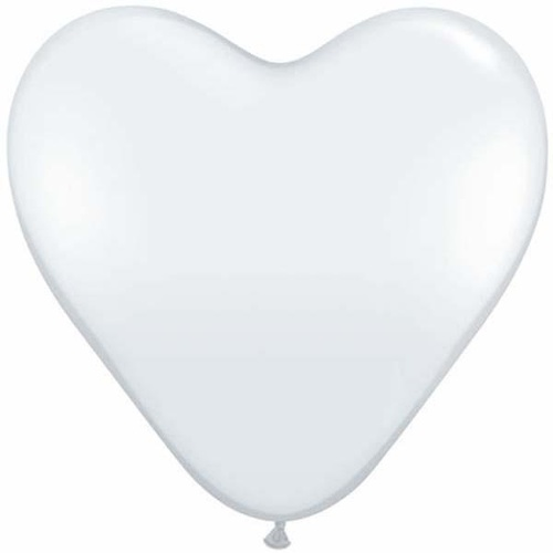38cm Heart Diamond Clear Qualatex Plain Latex #25206 - Pack of 50 SPECIAL ORDER ITEM