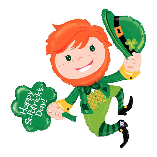 Shape St Patrick's Day Leaping Leprechaun 117cm Foil Balloon #2535088 - Each (Pkgd.)