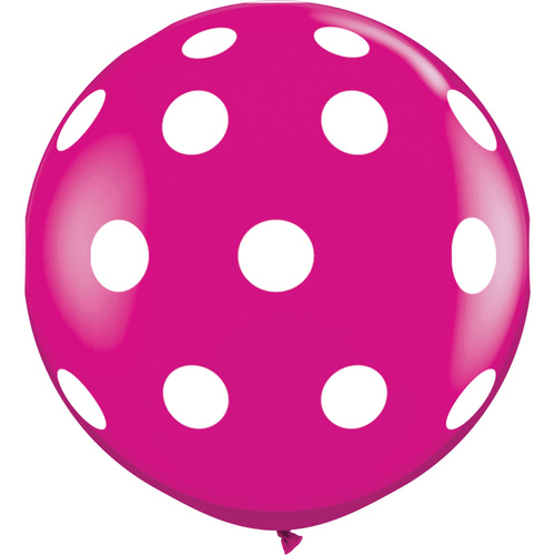 90cm Round Wild Berry Big Polka Dots-A-Round #26172 - Pack of 2 SPECIAL ORDER ITEM