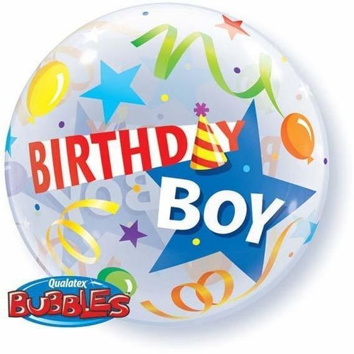 56cm Single Bubble Birthday Boy Party Hat #27510 - Each