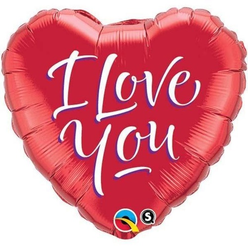 45cm Heart Foil I Love You Script Modern #29133 - Each (Pkgd.)