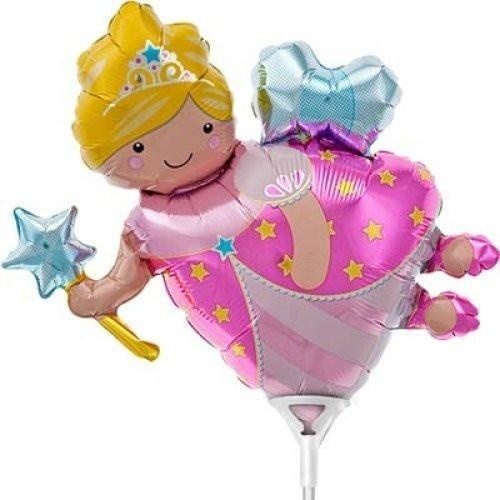Mini Shape Fairy Godmother Foil Balloon 35cm #3000704 - Each (Pkgd.)