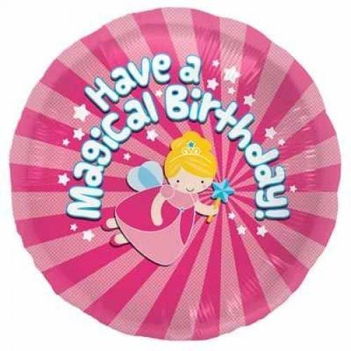 45cm Round Birthday Magical Foil Balloon #3000799 - Each (Pkgd.)
