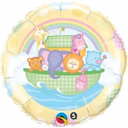 45cm Round Foil Baby's Ark & Rainbow #30153 - Each (Pkgd.) SPECIAL ORDER ITEM