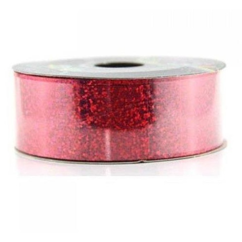 Ribbon Tear Holographic Red 45m long x 32mm wide #30205601 - Each