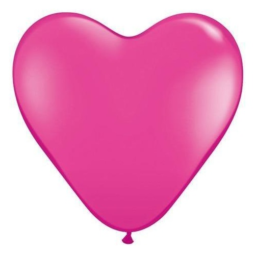 38cm Heart Wild Berry Qualatex Plain Latex #30215 - Pack of 50 SPECIAL ORDER ITEM
