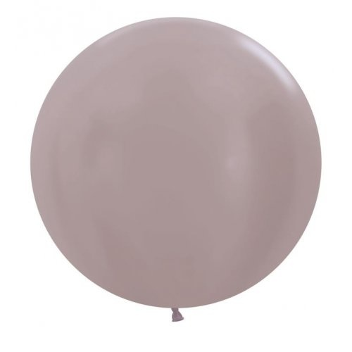 60cm Round Satin Greige Decrotex Plain Latex #30222691 - Pack of 3