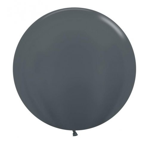 60cm Round Metallic Graphite Decrotex Plain Latex #30222695 - Pack of 3