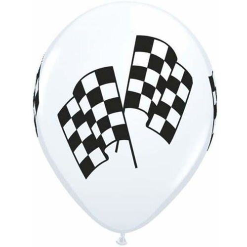 28cm Round White Racing Flags #3711825 - Pack of 25