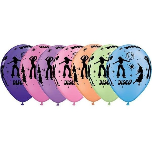 28cm Round Neon Assorted Disco #37450 - Pack of 50
