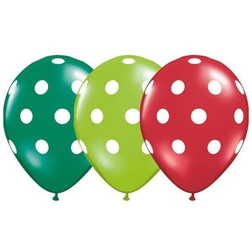28cm Round Special Assorted Big Polka Dots #38469 - Pack of 50