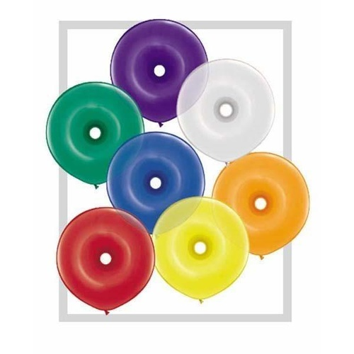 40cm Donut Jewel Assorted Qualatex Plain Latex Donut #39745 - Pack of 50 SPECIAL ORDER ITEM
