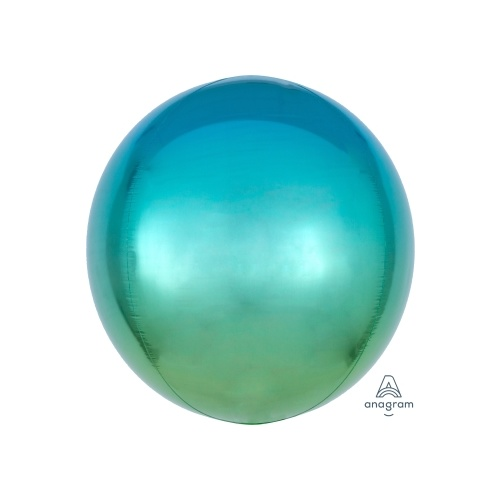 Ombre Orbz Blue & Green Foil Balloon 40cm #4039849 - Each (Pkgd.)