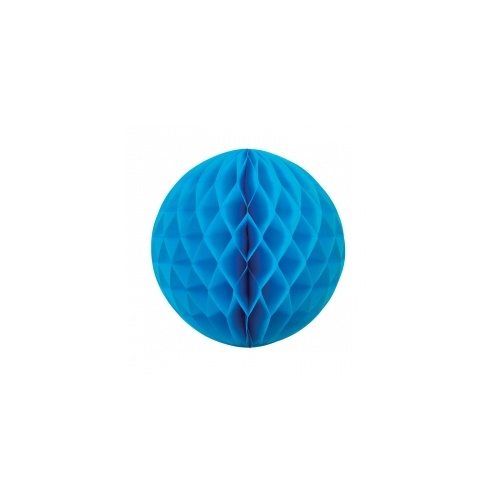 Paper Party Honeycomb Ball Electric Blue 25cm #405209EB - Each (Pkgd.)
