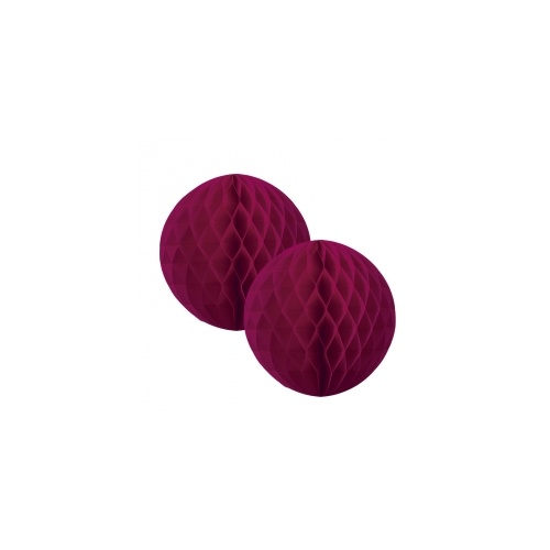 Paper Party Honeycomb Ball Wild Berry 15cm #405212WB - 2Pk (Pkgd.)